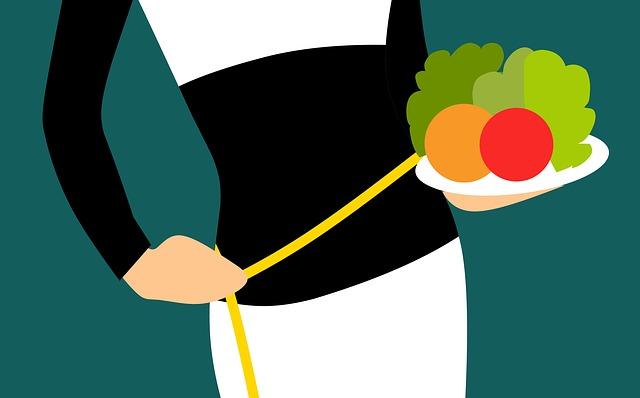 žena s dietou