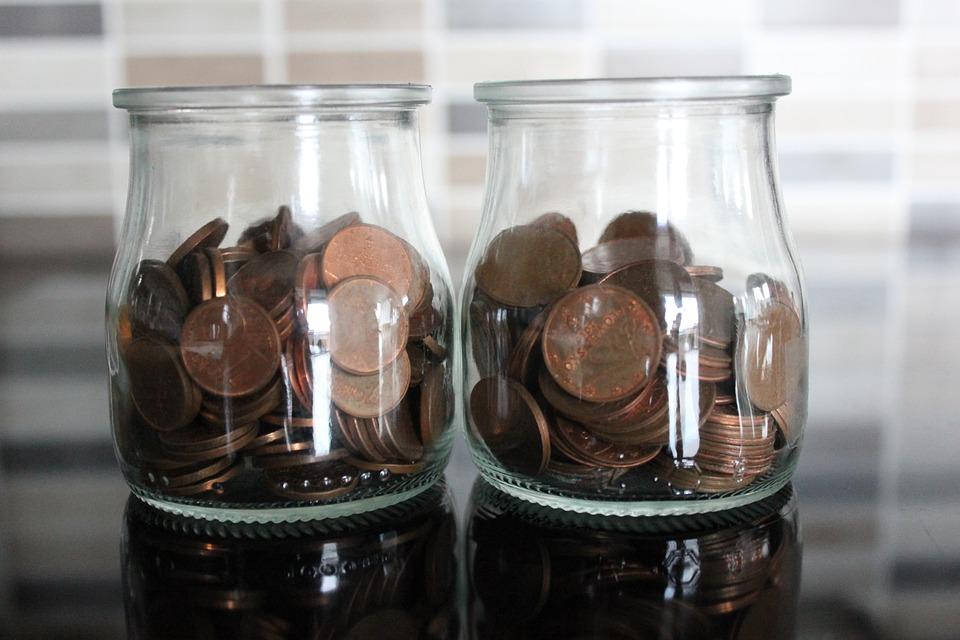 mince ve sklenicích